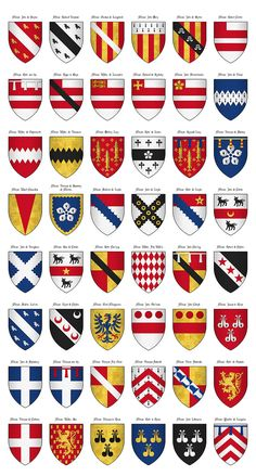 The Surrey Roll of Arms (aka Willement's Roll) - Shields 218-265.jpg