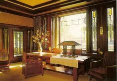 Frank Lloyd Wright's Dana Thomas House. Springfield, Illinois.