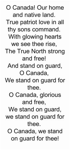 This is the original version .. We stood at attention every morning in school and sang Canada's national anthem and God Save The Queen ... We learned pride and respect!