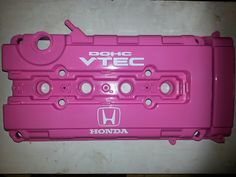 Pink and White B series valve cover
