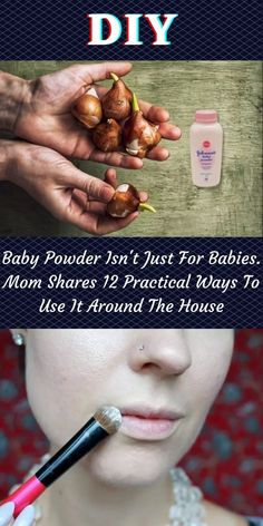 Baby powder isn't just for soothing baby's butts. There are a number of beauty applications and home uses for baby powder. #BabyPowder #MomShares #12 #PracticalWays 1 Dollar Shop, Baby Powder Uses, Oscar Fish, Blue Jeep, Soothing Baby, Korean Eye Makeup, Ankle Jewelry, Bridal Heels, Perfume