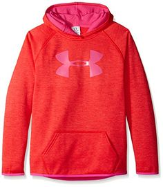 Girls' Under Armour Armour Fleece Printed Big Logo Hoodie -- Click here for more…