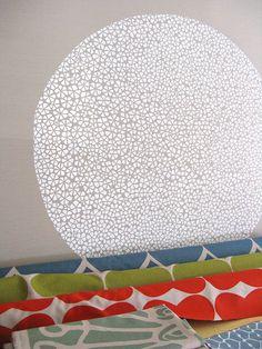 Perfect Circle; fabrics by Umbrella Prints