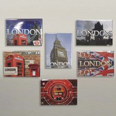 Ted Smith London Design Metal Magnets #magnet #LondonIcons #London #accessories #souvenirs #giftware