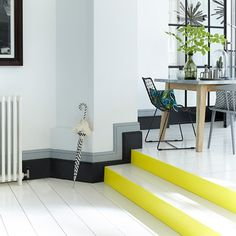 Yellow painted steps. For more like this, click the picture or visit RedOnline.co.uk