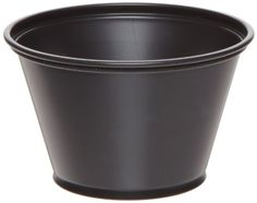Dixie P040BLK Plastic Souffle Cup, 4oz Capacity, Matte Black (12 Packs of 200) by Georgia-Pacific. $54.17. Dixie Souffle cups offer exceptional strength and versatility. Ideal for condiments sauces and side portions. Pre-portioning with Dixie Souffle cups help control costs and saves time and labor. Wide mouth brims. Easy to fill, less mess. Matte black color. 4oz Capacity. Case of 12 packs, 200 cups per pack.