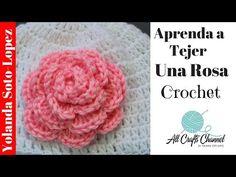 Aprenda a tejer un rosa en crochet - Crochet Cowel Crochet Cowel, Diy Crochet Bag, Crochet Puff Flower, Crochet Round, Crochet Flowers, Crochet Stitches, Free Crochet, Tutorial Crochet, Crochet Hair
