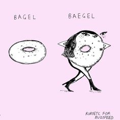 Eat some beautiful bagels.