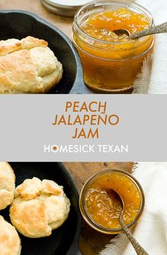Texans love their peaches. I'd say that this love ranks right up there along with bluebonnets, barbecue, cheese enchiladas and football. And for good reason… Peach Jalapeno Jam, Jalapeno Jelly Recipes, Pepper Jelly Recipes, Canning Jalapeno Peppers, Jalapeno Pepper Jelly, Candied Jalapenos, Hot Pepper Jelly, Peach Jelly, Jalapeno Jam