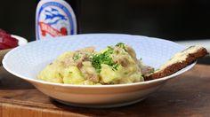 Opskrift på skipperlabskovs - Find den her - Brdr. Danish Cuisine, Danish Food, Wok, Family Meals, Potato Salad, Mashed Potatoes, Cooking Recipes, Meat, Ethnic Recipes