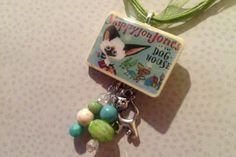 Skippyjon Jones in the Doghouse - Cat Chihuahua  by Judy-Schachner pendant necklace -Children's LiteraturLibrarian Student Gift $11.99