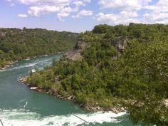 Whirl pool near Niagara falls. A summer shot.