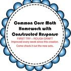 1st grade Common Core Homework with Constructed Response- This is AWESOME!!!  CHEAP! Only a buck for the whole week's worth