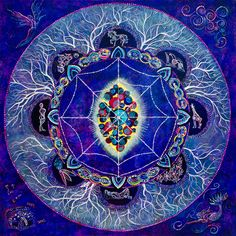 """The painting """"Law of Divine Oneness"""" is the first of 12 Universal Laws explored in Dominique Hurley's Enter the Mandala Project. Join the discussion."""