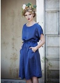 """Efrat"" Blue Grecian Dress"