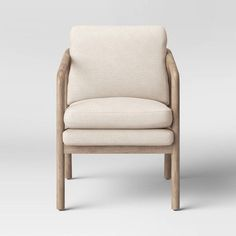 Shop Our Current House | Young House Love Wooden Armchair, Glider And Ottoman, Upholstered Arm Chair, Barrel Chair, Grey Chair, Light Beige, Accent Chairs, Arm Chairs, Pink Chairs