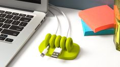 While something as simple as de-cluttering your cords and cables may not seem like the biggest spring clean task, it's still one that can make a world of difference. Cordies desktop cable manager is a perfect home for all those unsightly desktop cables. Cordies can be purchased from  quirky.com in a variety of colors for just $3.
