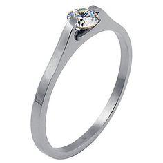 Jailynn: 316 Steel Promise Commitment Ring Russian Ice Diamond CZ Gem