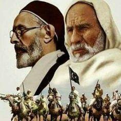 Omar almukhtar & Edriss Al-Senussi Lion Of The Desert, Beard Logo, Islamic, Country, Vintage, Art, Art Background, Rural Area, Kunst