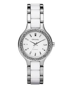 DKNY Watch, White Ceramic and Stainless Steel Bracelet NY8139 - Women's Watches - Jewelry & Watches - Macy's