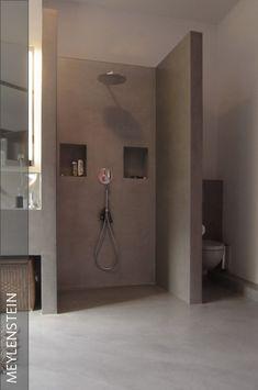 modernes badezimmer weiß hellgrau fliesen pflanze dusche ... - Offene Badezimmer Schlafzimmer