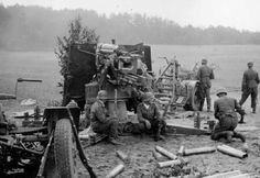 B Amp w WWII Photo German 88 mm Gun in Action WW2 | eBay