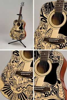 i think i would play my guitar more if i painted it. (or knew how to play guitar, but that's a technicality.) this is cool.