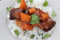 Pineapple Teriyaki Short Ribs with Cilantro Lime Rice