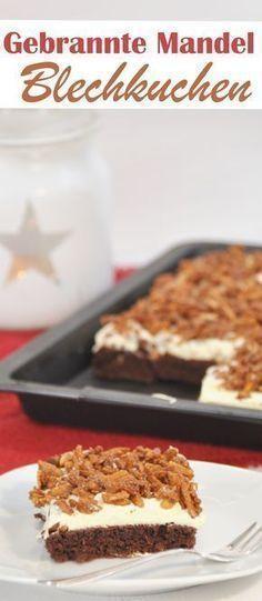 Der perfekte Kuchen für die Advents- und Weihnachtszeit. Unten ein Schokokuchen mit leichter Zimtnote in der Mitte Vanille-Creme und oben drauf gebrannte Mandeln. Mit oder ohne Thermomix vegan möglich