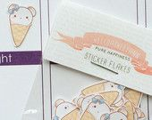 20 Cute Bear Ice Cream Cone Stickers for YOUR planner! | Erin Condren Planner Plum /  Paper Planner