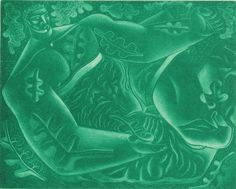 'In The Greenwood' by John Byrne, 2005 (mezzotint)