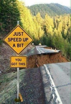 Funny Speed Up Sign Picture