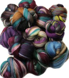 Owl Emporium battlings  mini batts 4 oz. polwarth by hobbledehoy