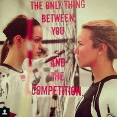 You may not think this picture is very intense, but it is! Eye contact is NEVER … - Deportes Volleyball Cheers, Volleyball Motivation, Volleyball Memes, Volleyball Outfits, Play Volleyball, Volleyball Pictures, Volleyball Players, Volleyball Problems, Volleyball Skills