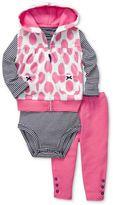 Carter's Baby Set, Baby Girls 3-Piece Vest, Bodysuit and Pants