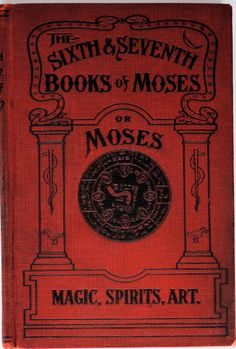 antique book the sixth & seventh books of moses or moses' magical spirit-art cabala talmud occult circa 1900 rare out of print hardcover on Etsy, $100.00