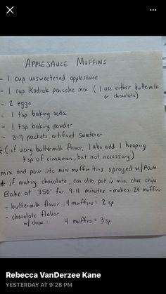 Weight Watcher Desserts, Weight Watcher Muffins, Weight Watchers Snacks, Weight Watchers Breakfast, Weight Watchers Smart Points, Kodiak Cake Muffins, Kodiak Cakes, Skinny Recipes, Ww Recipes