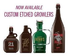 Personalized, custom designs, sand etched, hand painted beer growlers.  Yes, please.