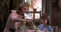 """A look at Miss Honey's Cottage and the other houses that are featured in the movie """"Matilda"""" starring Mara Wilson and Danny Devito. Miss Honey Matilda, Matilda Movie, Small Towns In California, Mara Wilson, Best Teacher Ever, Relaxing Day, Roald Dahl, Film Music Books, Film Stills"""