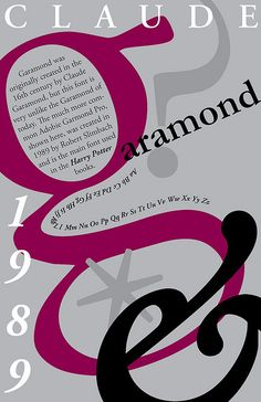 garamond poster with three level visual interest Poster Fonts, Type Posters, Typographic Poster, Art Posters, Cool Typography, Typography Fonts, Typo Design, Typography Design, Garamond Font