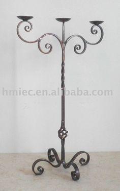 de hierro forjado de candelabros: