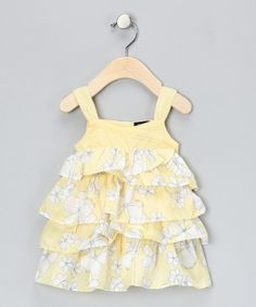 905642746fa Take a look at this Yellow Floral Ruffle Dress - Infant  amp  Toddler by  Calvin · Cute Summer DressesLittle ...