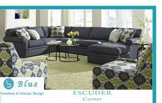 Found it at Wayfair - Rowe Furniture Brentwood Feather Sectional Sectional Sofa With Chaise, Modular Sectional Sofa, Modern Sectional, Sofa Beds, Sleeper Sectional, Couches, Navy Sectional, Navy Sofa, Sofa Chair
