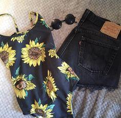 Sunflower bodysuit    alyannaclothing.com