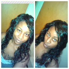 """Brazilian Body Wave 16"""" Wet Style with Product"""