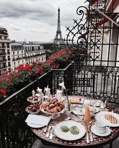 Imagem de paris, breakfast, and food