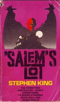 "Nine more book covers for Stephen King's ""Salem's Lot"" Horror Movie Posters, Horror Movies, Horror Icons, I Love Books, My Books, Library Books, Salem Lot, Stephen King Movies, David Soul"