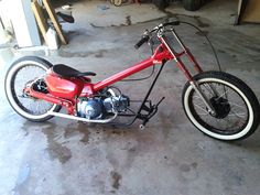 Vintage Motorcycles, Cars And Motorcycles, Mini Chopper, Honda Cub, Pit Bike, Pedal Cars, Mopeds, Custom Bikes, Scooters