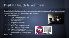 Digital Health and Well Being Relationship Addiction, What Is Digital, Information Overload, Digital Citizenship, Health And Wellbeing, Health Care, Healthy Living, Knowledge, Technology
