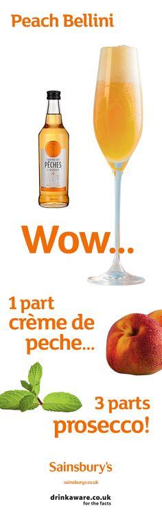 #SainburysRecipes #Cocktails #Prosecco #Bitters #Sainsburys #PeachBellini